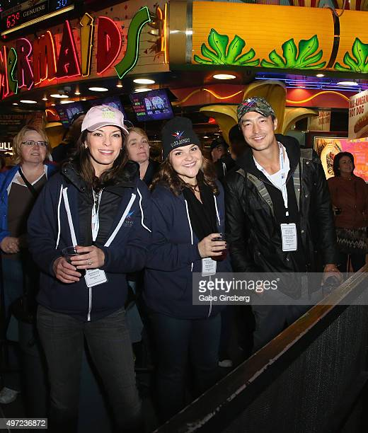 Actors Alana De La Garza Annie Funke and Daniel Henney attend Gary Sinise the Lt Dan Band's Salute to the Troops Concert at the Fremont Street...