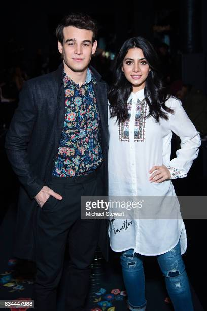 Actors Alberto Rosende and Emeraude Toubia attend the Desigual show during February 2017 New York Fashion Week The Shows at Gallery 1 Skylight...