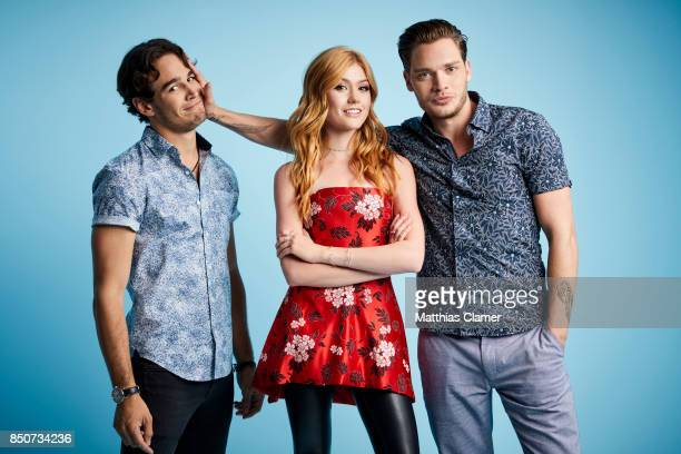 Actors Alberto Rosende Katherine McNamara and Dominic Sherwood from Shadowhunters are photographed for Entertainment Weekly Magazine on July 20 2017...