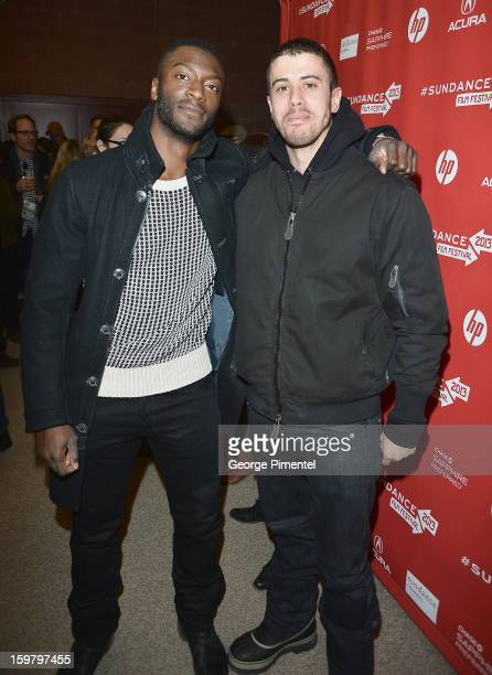 Actors Aldis Hodge and Toby Kebbell attend 'The East' Premiere at Eccles Center Theatre during the 2013 Sundance Film Festival on January 20 2013 in...
