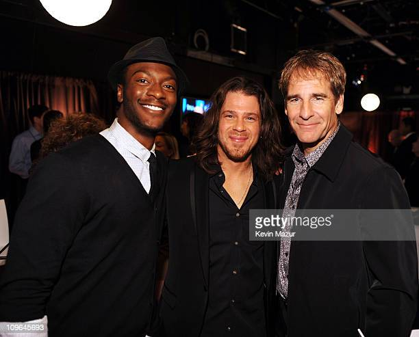 Actors Aldis Hodge Christian Kane and Scott Bakula attend the 2009 Turner Upfront at Hammerstein Ballroom on May 20 2009 in New York City...