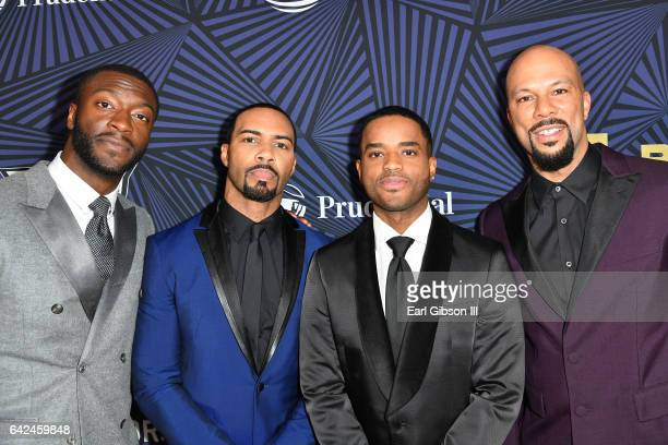Actors Aldis Hodge Omari Hardwick Larenz Tate and Common attend BET Presents the American Black Film Festival Honors on February 17 2017 in Beverly...