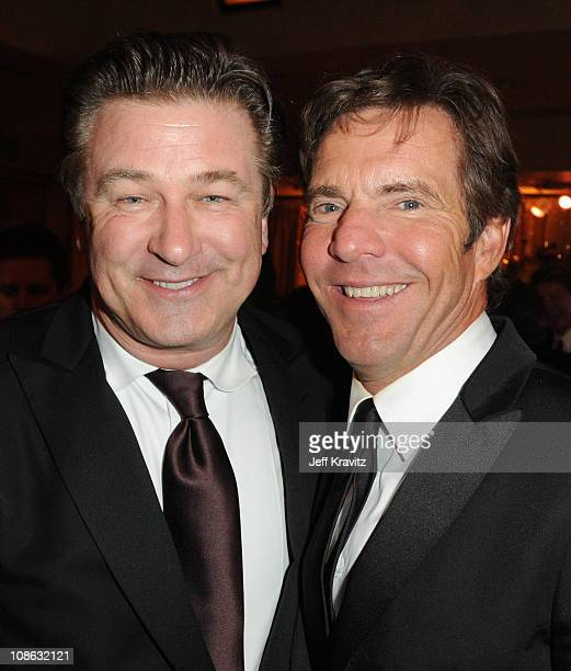 Actors Alec Baldwin and Dennis Quaid attend the official HBO SAG Awards after party held at at Spago on January 29 2011 in Beverly Hills California