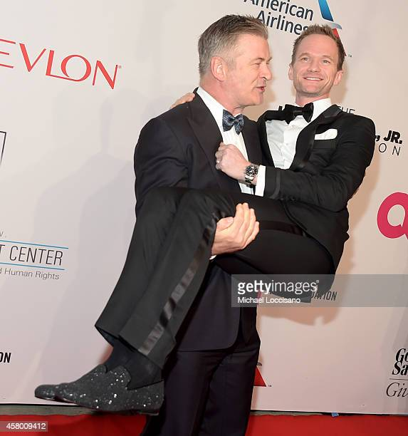 Actors Alec Baldwin and Neil Patrick Harris attend the Elton John AIDS Foundation's 13th Annual An Enduring Vision Benefit at Cipriani Wall Street on...