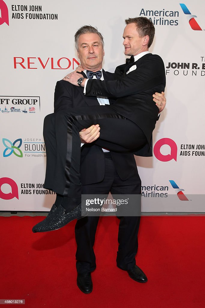 Actors Alec Baldwin and Neil Patrick Harris attend the Elton John AIDS Foundation's 13th Annual An Enduring Vision Benefit at Cipriani Wall Street...