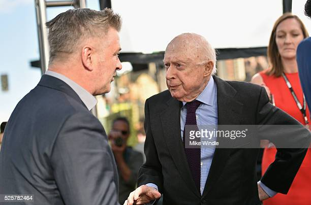 Actors Alec Baldwin and Norman Lloyd attend 'All The President's Men' premiere during the TCM Classic Film Festival 2016 Opening Night on April 28...