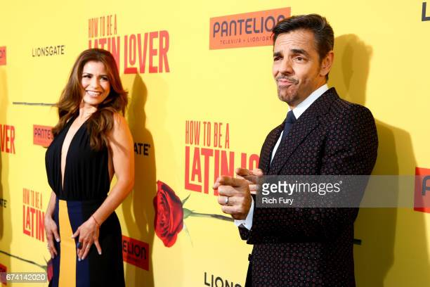 Actors Alessandra Rosaldo and Eugenio Derbez attend the premiere of 'How To Be A Latin Lover' on April 26 2017 in Los Angeles California