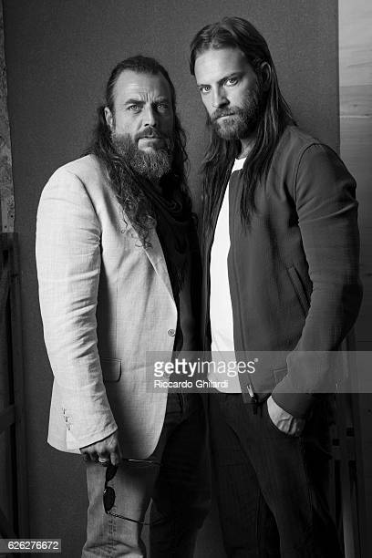 Actors Alessandro Borghi and Mirko Frezza are photographed for Self Assignment on September 5 2016 in Rome Italy