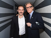 Actors Alessandro Nivola and Bill Nighy attend the 2015 Tony Awards Meet The Nominees Press Reception at the Paramount Hotel on April 29 2015 in New...