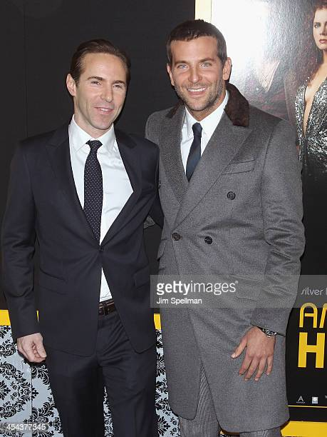 Actors Alessandro Nivola and Bradley Cooper attend the 'American Hustle' screening at Ziegfeld Theater on December 8 2013 in New York City
