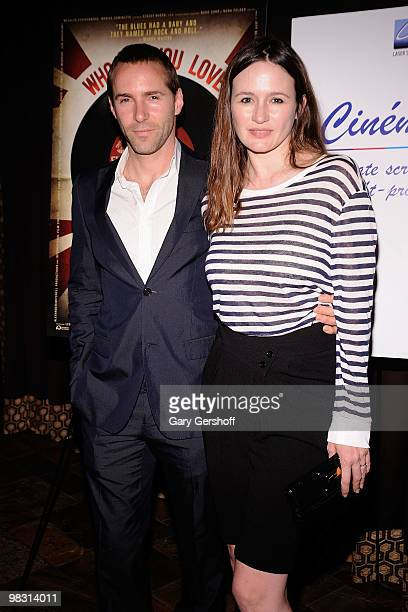 Actors Alessandro Nivola and Emily Mortimer attend the 'Who Do You Love' New York premiere at the Tribeca Grand Screening Room on April 7 2010 in New...