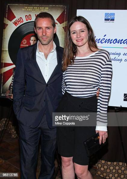 Actors Alessandro Nivola and wife Emily Mortimer attend the 'Who Do You Love' New York premiere at the Tribeca Grand Screening Room on April 7 2010...