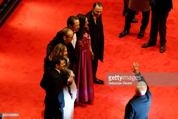 Actors Alex Brendemuehl Bim Bam Merstein Cecile de France Director Etienne Comar actor Reda Kateb actress Beata Palya and producer Marc Misson attend...