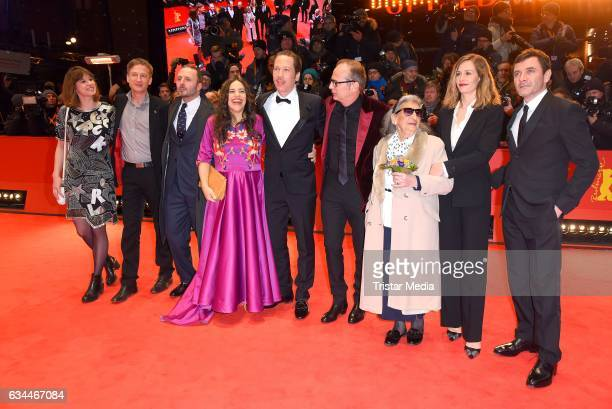 Actors Alex Brendemuhl Bim Bam Merstein Cecile de France director Etienne Comar Reda Kateb Beata Palya and guest attend the 'Django' Premiere during...