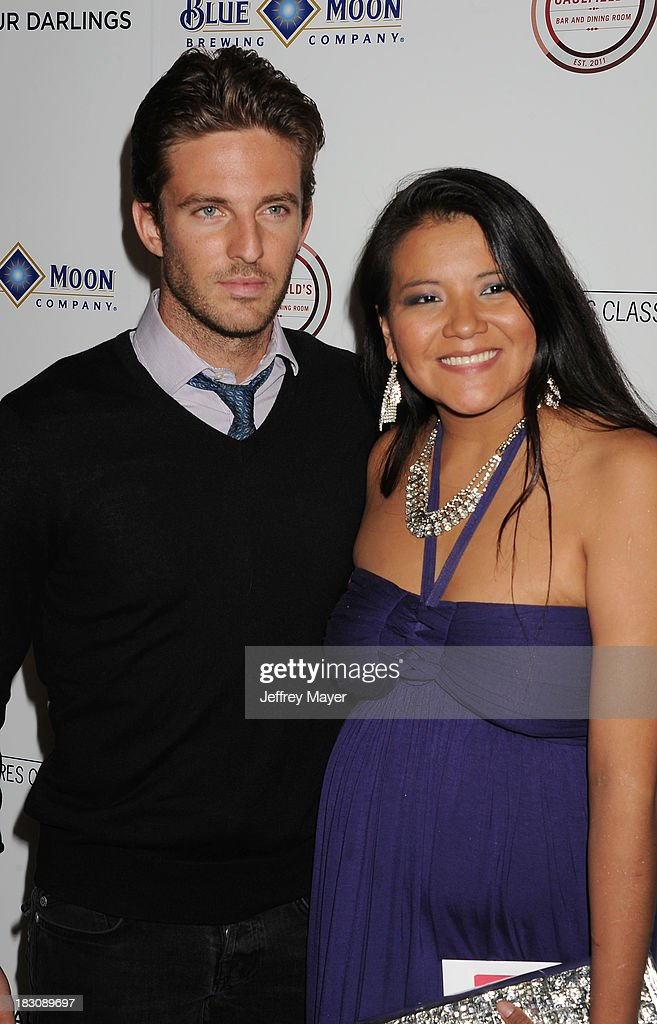 Actors Alex Hafner (L) and <a gi-track='captionPersonalityLinkClicked' href=/galleries/search?phrase=Misty+Upham&family=editorial&specificpeople=4835047 ng-click='$event.stopPropagation()'>Misty Upham</a> arrive at the Los Angeles premiere of 'Kill Your Darlings' at the Writers Guild Theater on October 3, 2013 in Beverly Hills, California.