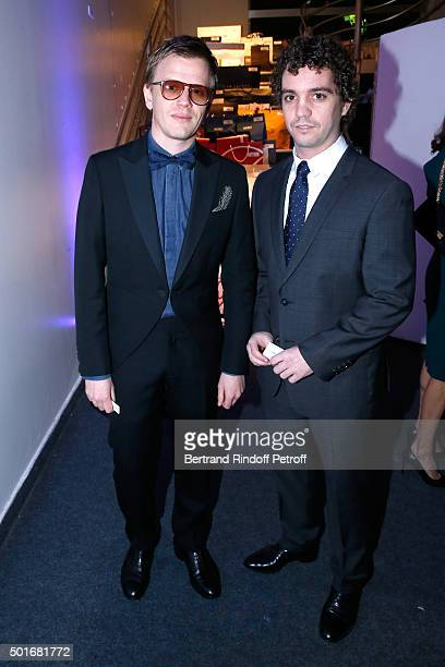 Actors Alex Lutz and Bruno Sanches attend the Annual Charity Dinner hosted by the AEM Association Children of the World for Rwanda Held at Espace...