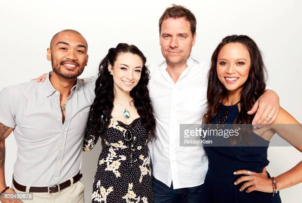 Actors Alex Mallari Jr Jodelle Ferland Anthony Lemke and Melanie Liburd pose for a portrait during ComicCon 2017 at Hard Rock Hotel San Diego on July...