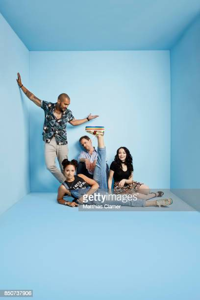 Actors Alex Mallari Jr Jodelle Ferland Melissa ONeil and Anthony Lemke from Dark Matter are photographed for Entertainment Weekly Magazine on July 20...