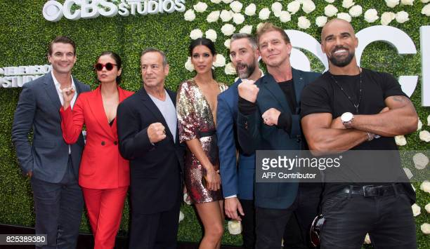 Actors Alex Russel Lina EscoPeter Onorati Stephanie Sigman Jay Harrington Kenny Johnson and Shemar Moore attend the 2017 CBS Television Studios...