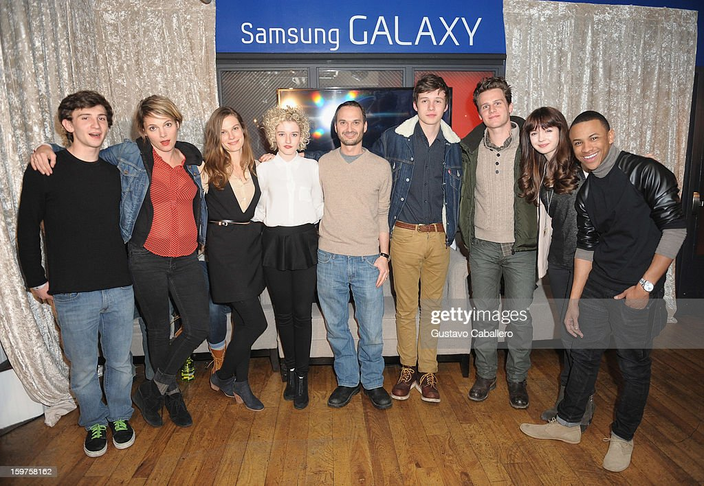 Actors Alex Shaffer, Amy Seimetz, Lindsay Burdge, Julia Garner, Verge founder and creative director Jeff Vespa, actor Nick Robinson, Jonathan Groff, Gina Piersanti and Tequan Richmond attends The Verge List Party at the Samsung Gallery Launch Party To Celebrate The Verge List - 2013 on January 19, 2013 in Park City, Utah.