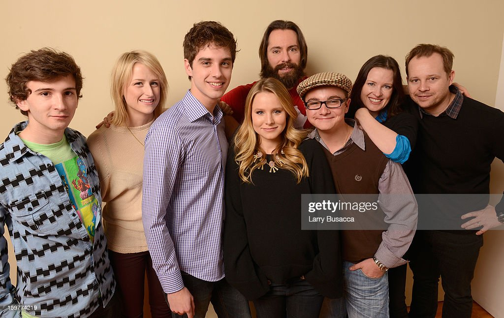 Actors Alex Shaffer, <a gi-track='captionPersonalityLinkClicked' href=/galleries/search?phrase=Mamie+Gummer&family=editorial&specificpeople=805216 ng-click='$event.stopPropagation()'>Mamie Gummer</a>, David Lambert, <a gi-track='captionPersonalityLinkClicked' href=/galleries/search?phrase=Kristen+Bell&family=editorial&specificpeople=194764 ng-click='$event.stopPropagation()'>Kristen Bell</a>, <a gi-track='captionPersonalityLinkClicked' href=/galleries/search?phrase=Martin+Starr&family=editorial&specificpeople=3733303 ng-click='$event.stopPropagation()'>Martin Starr</a>, Paulie Litt, writer/director Liz W. Garcia and actor Joshua Harto pose for a portrait during the 2013 Sundance Film Festival at the Getty Images Portrait Studio at Village at the Lift on January 20, 2013 in Park City, Utah.