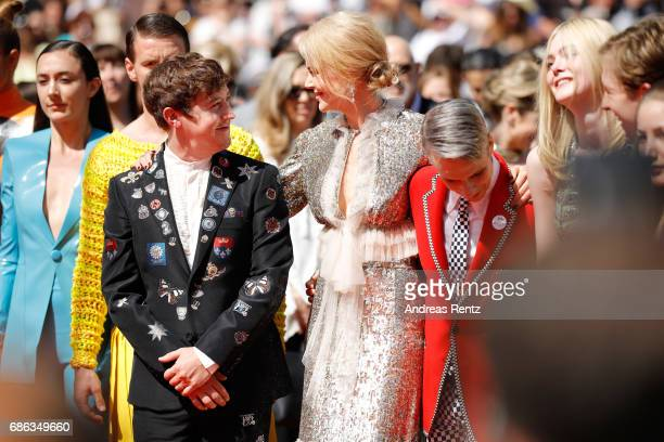 Actors Alex Sharp Nicole Kidman director John Cameron Mitchel actors Elle Fanning Aj Lewis and members of the cast attend the 'How To Talk To Girls...