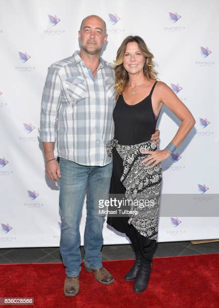 Actors Alex Skuby and Mo Collins attend the ShangriLa Global Launch and PopUp store on August 20 2017 in Beverly Hills California