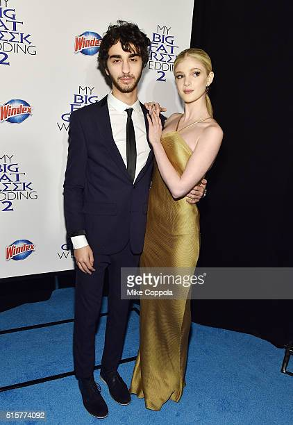 Actors Alex Wolff and Elena Kampouris arrive at the premiere of My Big Fat Greek Wedding 2 and walk the Windex blue carpet in New York City on March...