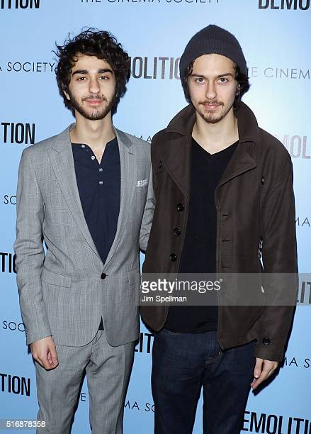 Actors Alex Wolff and Nat Wolff attend the Fox Searchlight Pictures with The Cinema Society host a screening of 'Demolition' at the SVA Theater on...