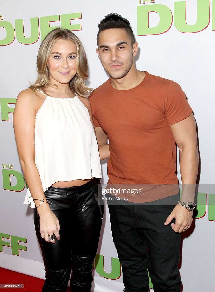 Actors Alexa PenaVega and Carlos PenaVega attend a special Los Angeles fan screening of 'THE DUFF' on February 12 2015 in Los Angeles California