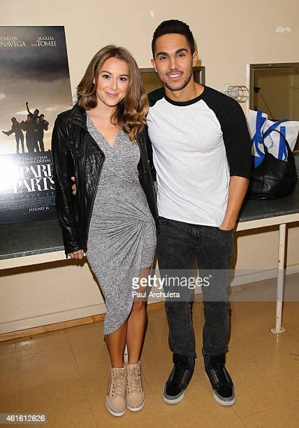 Actors Alexa PenaVega and Carlos PenaVega attend a special screening of 'Spare Parts' for the 'LowRide With George Lopez' campaign benefiting the 'LA...