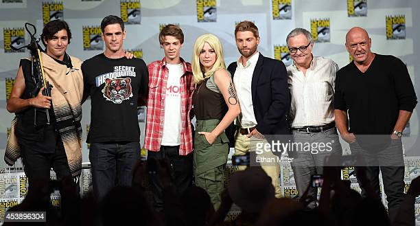 Actors Alexander Koch Eddie Cahill and Colin Ford actress Rachelle Lefevre actor Mike Vogel producer Neal Baer and actor Dean Norris attend the...
