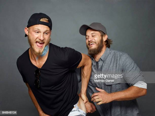 Actors Alexander Ludwig and Travis Fimmel from 'Vikings' is photographed for Entertainment Weekly Magazine on July 22 2016 at Comic Con in the Hard...