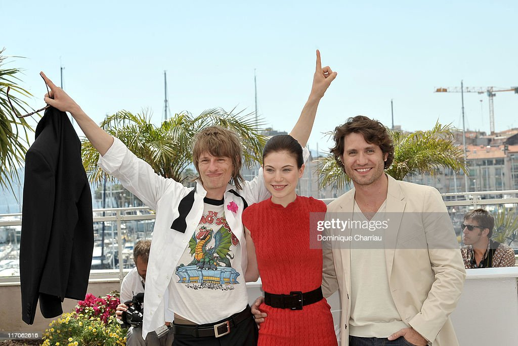 Actors Alexander Scheer, Nora Von Waldstatten and Edgar Ramirez attend the 'Carlos' Photo Call held at the Palais des Festivals during the 63rd Annual International Cannes Film Festival on May 20, 2010 in Cannes, France.