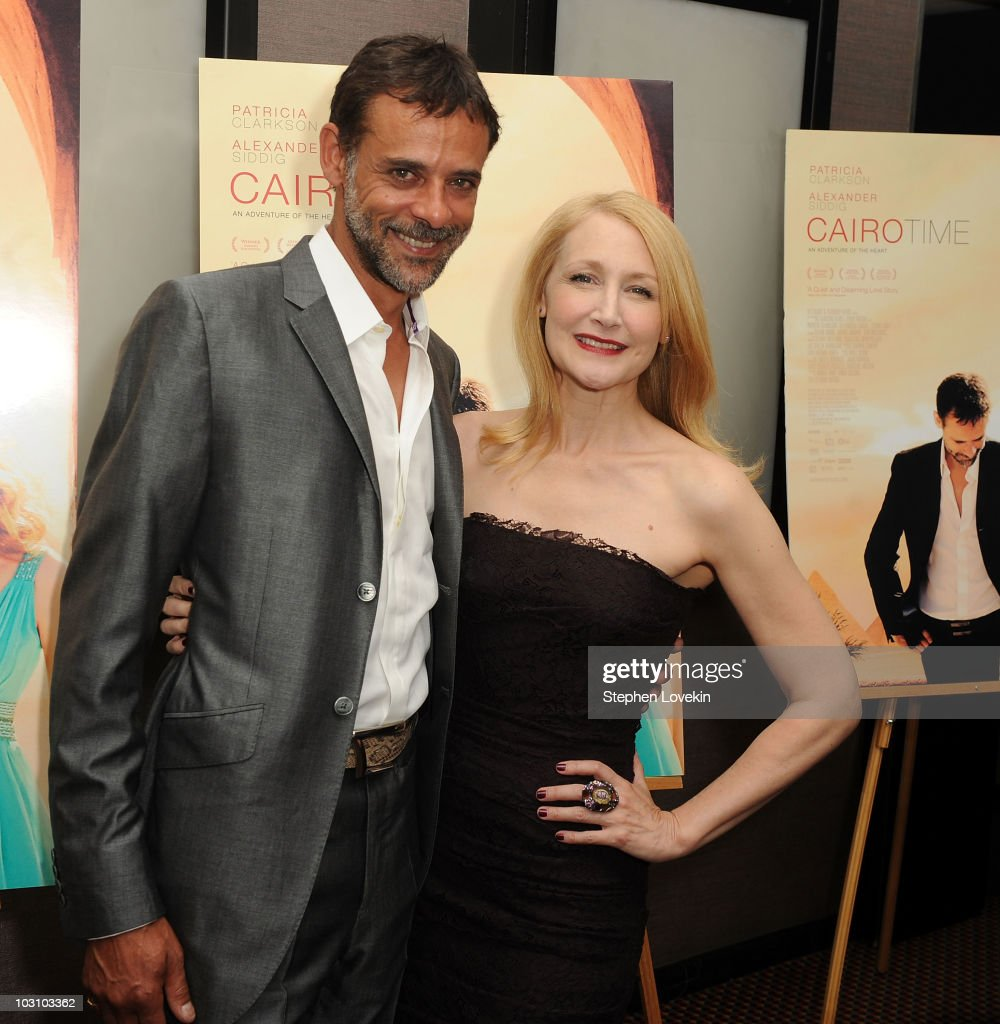 Actors Alexander Siddig and Patricia Clarkson attend the premiere of 'Cairo Time' at Cinema 3 on July 26, 2010 in New York City.