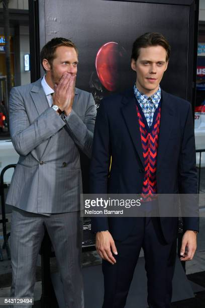 Actors Alexander Skarsgard and Bill Skarsgard attend the premiere of Warner Bros Pictures and New Line Cinema's 'It' at the TCL Chinese Theatre on...