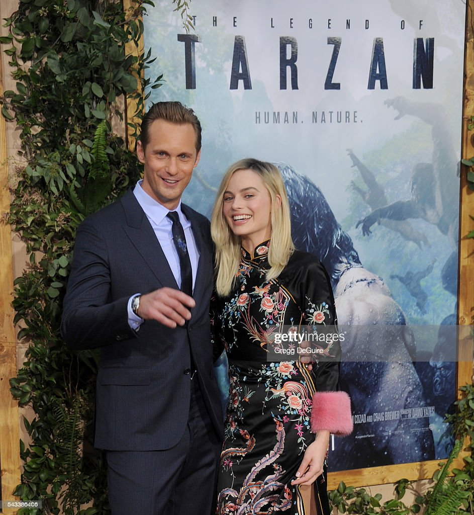 Actors Alexander Skarsgard and <a gi-track='captionPersonalityLinkClicked' href=/galleries/search?phrase=Margot+Robbie&family=editorial&specificpeople=5781742 ng-click='$event.stopPropagation()'>Margot Robbie</a> arrive at the premiere of Warner Bros. Pictures' 'The Legend Of Tarzan' at TCL Chinese Theatre on June 27, 2016 in Hollywood, California.