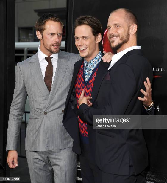 Actors Alexander Skarsgard Bill Skarsgard and Gustaf Skarsgard attend the premiere of 'It' at TCL Chinese Theatre on September 5 2017 in Hollywood...