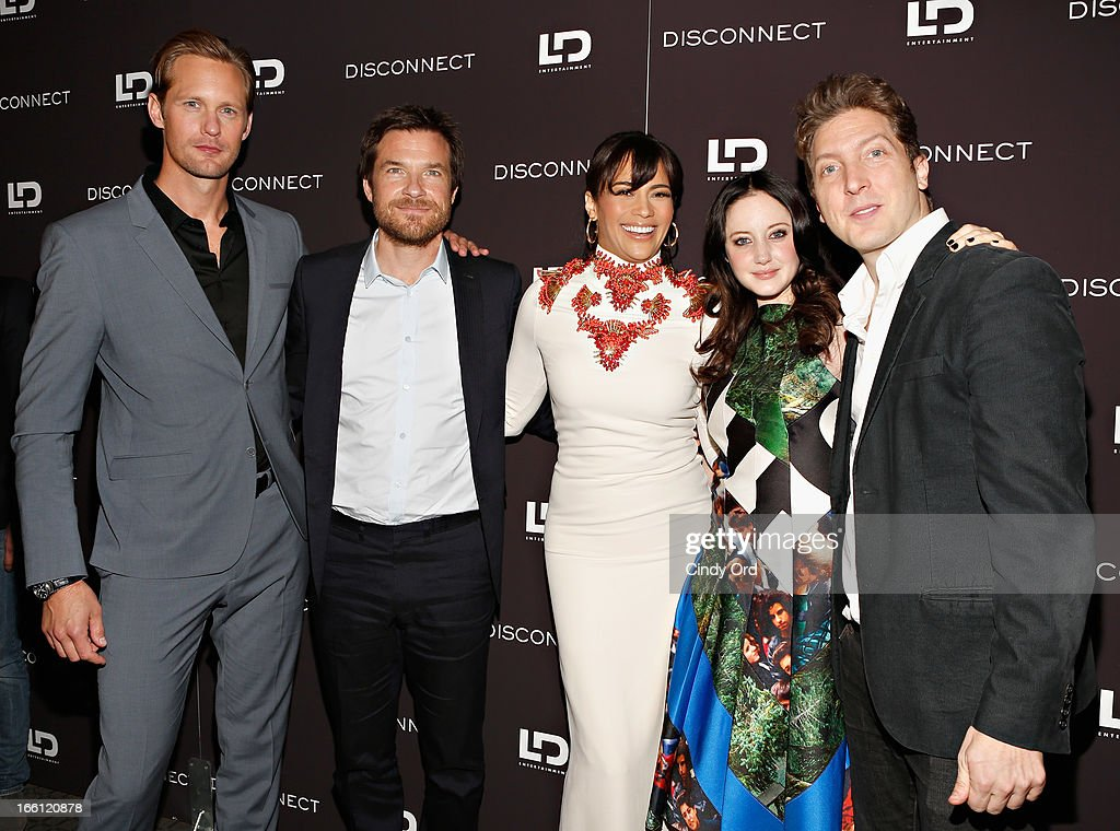 Actors Alexander Skarsgard, <a gi-track='captionPersonalityLinkClicked' href=/galleries/search?phrase=Jason+Bateman&family=editorial&specificpeople=204774 ng-click='$event.stopPropagation()'>Jason Bateman</a>, <a gi-track='captionPersonalityLinkClicked' href=/galleries/search?phrase=Paula+Patton&family=editorial&specificpeople=752812 ng-click='$event.stopPropagation()'>Paula Patton</a>, <a gi-track='captionPersonalityLinkClicked' href=/galleries/search?phrase=Andrea+Riseborough&family=editorial&specificpeople=4395380 ng-click='$event.stopPropagation()'>Andrea Riseborough</a>, and director Henry-Alex Rubin attend the 'Disconnect' New York Special Screening at SVA Theater on April 8, 2013 in New York City.