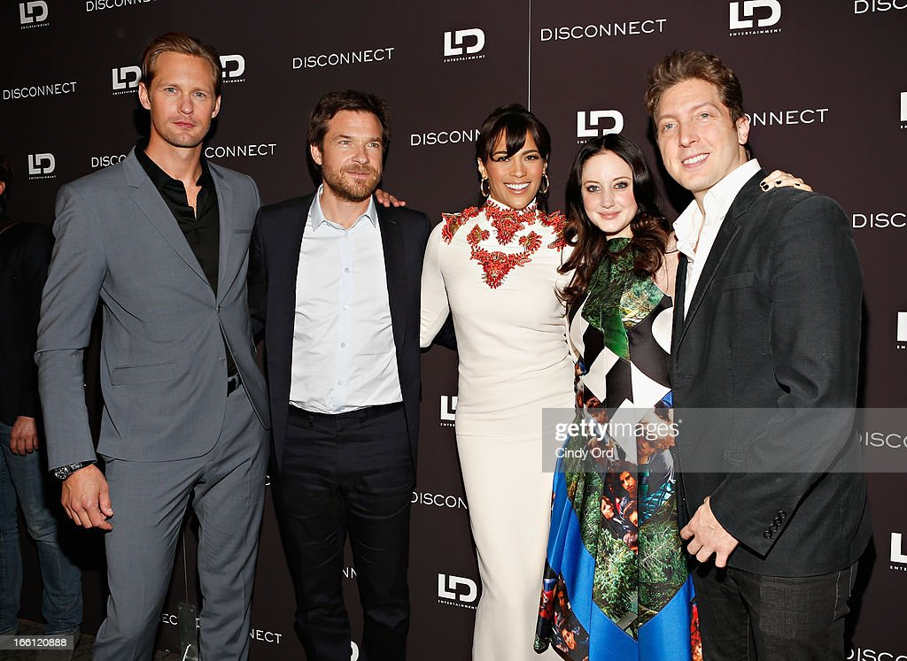 Actors Alexander Skarsgard, Jason Bateman, Paula Patton, Andrea Riseborough, and director Henry-Alex Rubin attend the 'Disconnect' New York Special Screening at SVA Theater on April 8, 2013 in New York City.