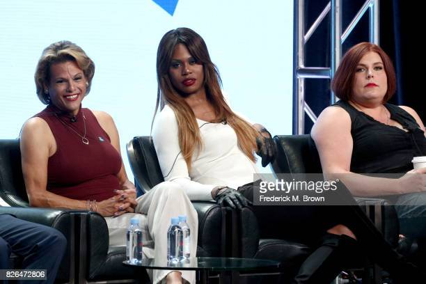 Actors Alexandra Billings of 'Transparent' and 'How to Get Away with Murder' and Laverne Cox of 'Orange Is the New Black' and 'Doubt' and creator of...