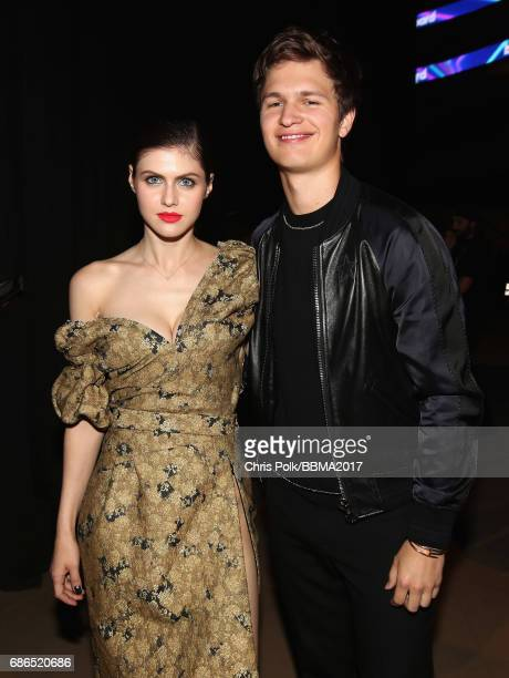 Actors Alexandra Daddario and Ansel Elgort attend the 2017 Billboard Music Awards at TMobile Arena on May 21 2017 in Las Vegas Nevada