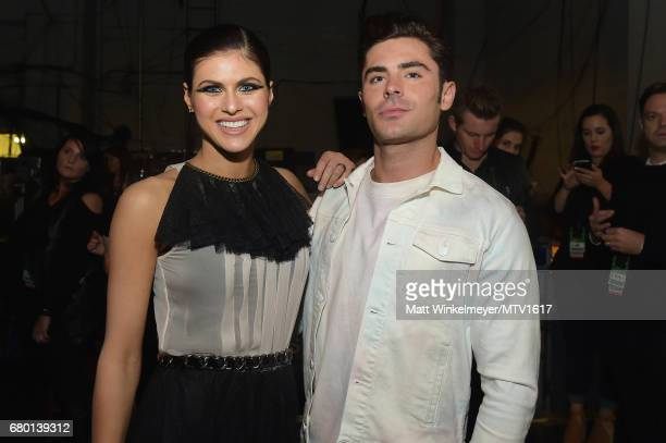 Actors Alexandra Daddario and Zac Efron attend the 2017 MTV Movie And TV Awards at The Shrine Auditorium on May 7 2017 in Los Angeles California