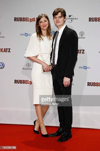 Actors Alexandra Maria Lara and her husband Sam Riley attend the 'RUBBELDIEKATZ' Premiere at Cinemaxx on November 30 2011 in Berlin Germany