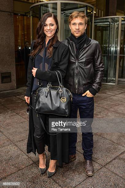 Actors Alexandra Park and William Moseley leave the Sirius XM Studios on March 11 2015 in New York City