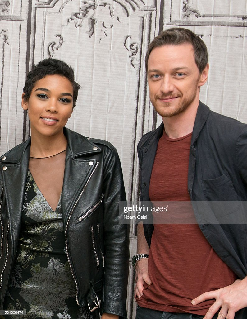 Actors <a gi-track='captionPersonalityLinkClicked' href=/galleries/search?phrase=Alexandra+Shipp&family=editorial&specificpeople=10012876 ng-click='$event.stopPropagation()'>Alexandra Shipp</a> and <a gi-track='captionPersonalityLinkClicked' href=/galleries/search?phrase=James+McAvoy&family=editorial&specificpeople=647005 ng-click='$event.stopPropagation()'>James McAvoy</a> visit AOL Build to discuss 'X-Men: Apocalypse' at AOL Studios in New York on May 24, 2016 in New York City.