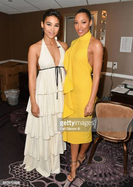 Actors Alexandra Shipp and Kylie Bunbury attend BET Presents the American Black Film Festival Honors on February 17 2017 in Beverly Hills California