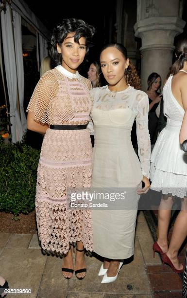 Actors Alexandra Shipp and Serayah wearing Max Mara at Max Mara Celebrates Zoey Deutch The 2017 Women In Film Max Mara Face of the Future at Chateau...