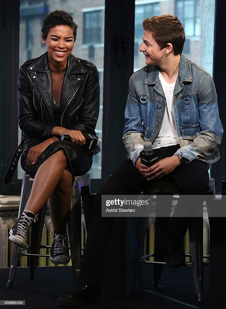 Actors <a gi-track='captionPersonalityLinkClicked' href=/galleries/search?phrase=Alexandra+Shipp&family=editorial&specificpeople=10012876 ng-click='$event.stopPropagation()'>Alexandra Shipp</a> and <a gi-track='captionPersonalityLinkClicked' href=/galleries/search?phrase=Tye+Sheridan&family=editorial&specificpeople=7807719 ng-click='$event.stopPropagation()'>Tye Sheridan</a> attend AOL Build Presents: The Cast Of 'X-Men: Apocalypse' at AOL Studios In New York on May 24, 2016 in New York City.