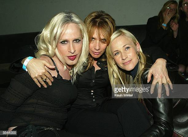 Actors Alexis Arquette Rosanna Arquette and Patricia Arquette pose at the afterparty for Lions Gate Films' 'The Punisher' at SoHo Project on April 12...
